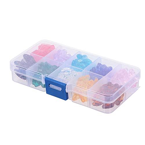 EXCEART 1 Caja de 14Mm de Cristal de Mariposa Cuentas Sueltas para Hacer Joyas Multicolor Perlas de Murano Sueltas Pendientes Collar Pulsera Cuentas
