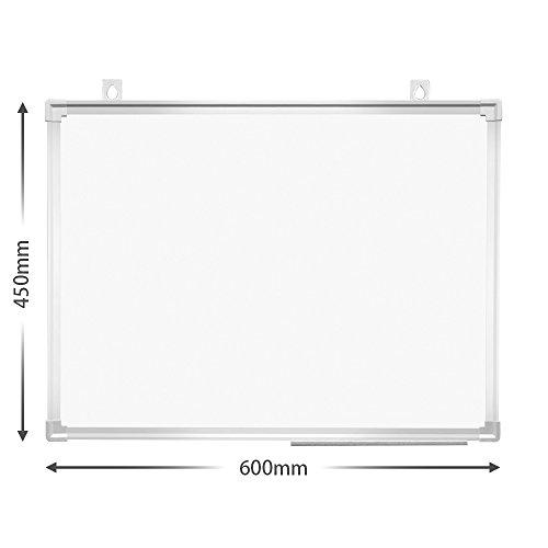 プラスホワイトボード壁掛け幅600×高さ450mmPWK-0604SSマーカー・イレーザーセット428-169