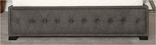 Brayden Studio Grey Ovellette Upholstered Ottoman Storage Bed - Super King
