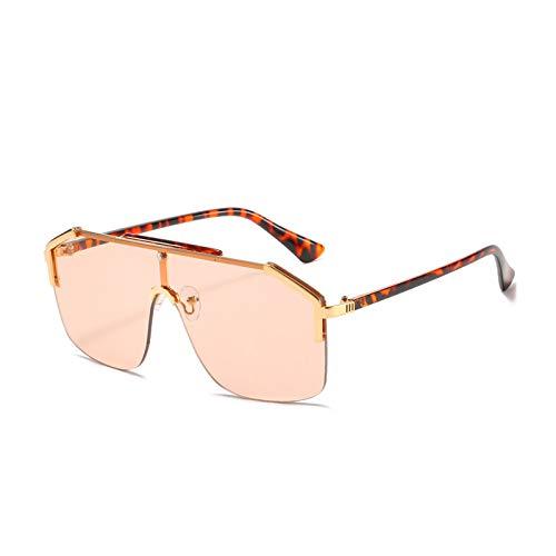 Gafas De Sol Sin Montura, Elegante Diseño Poligonal De Gran Tamaño, Montura...