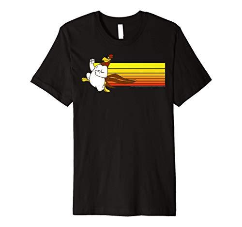 Looney Tunes Foghorn Leghorn Retro Stripe Premium T-Shirt