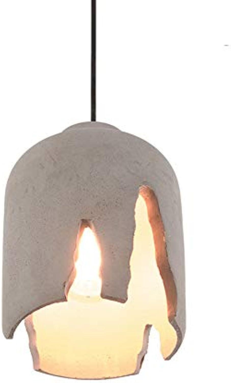 Zement Einkerbung Leuchter Restaurant Cafe Retro einzelner Kopf Beton Pendelleuchte