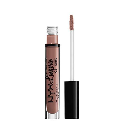 NYX Professional Makeup Lipgloss - Lip Lingerie Gloss, schimmernder Gloss in Nude, für unwiderstehlich volle Lippen, 3,4 ml, Butter 06