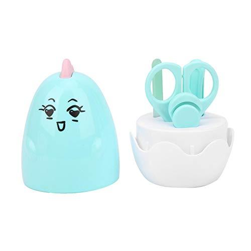 Kit de herramientas de manicura infantil, con caja, kit de cuidado y aseo para bebés,(Chicken Nail Clipper-Light Blue)