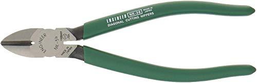 Cortadores de alambre laterales diagonales resistentes, mandíbulas de acero al carbono endurecido. Fabricado en Japón. INGENIERO nk-36