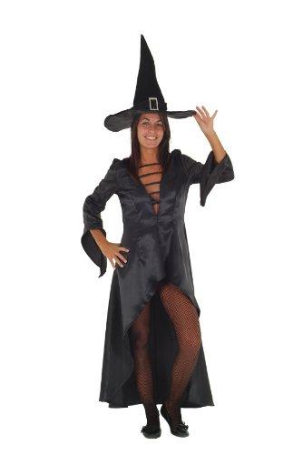 Marco Porta Disfraz de bruja para disfraz de bruja, magadora, extranjero, disfraz de Halloween, color negro (40)