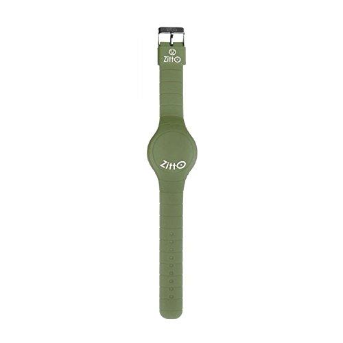 Orologio ZITTO a led con cinturino in silicone Army green Verde militare Grande