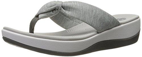 Clarks Women's Arla Glison Flip Flop, Grey Heather Fabric, 7 M US