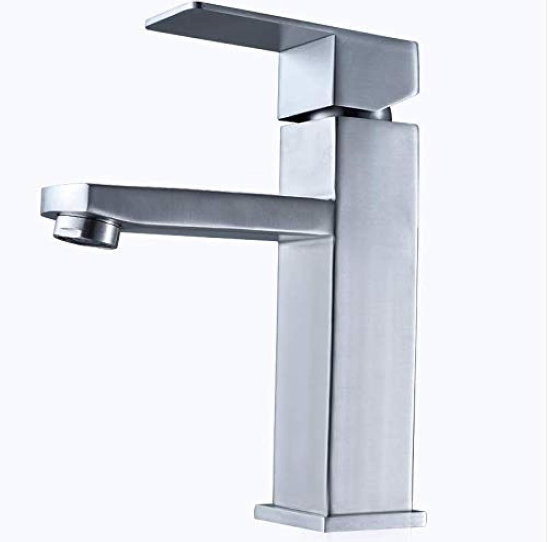 Wasserhahn hei und kalt Waschbecken Wasserhahn Badezimmer Waschbecken Bad Wasserhahn 304 Edelstahl Mischventil Krper