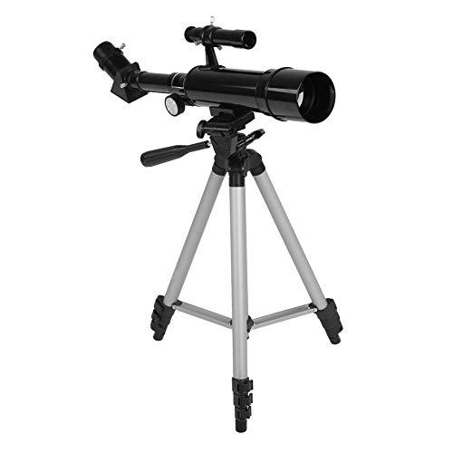 Telescopio Refractor Astronómico 2 Oculares Refractivos con Trípode Retráctil para Niños Principiantes