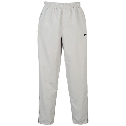 Slazenger Woven trainingsbroek voor heren, joggingbroek, sportbroek, sweatbroek, vrije tijd, grijs, medium
