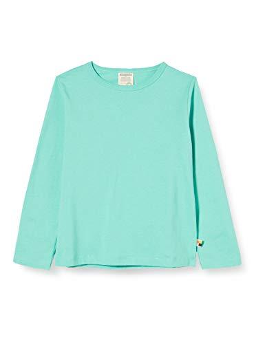 loud + proud Mädchen Shirt Single Jersey Organic Cotton Langarmshirt, Grün (Mint Min), (Herstellergröße: 74/80)