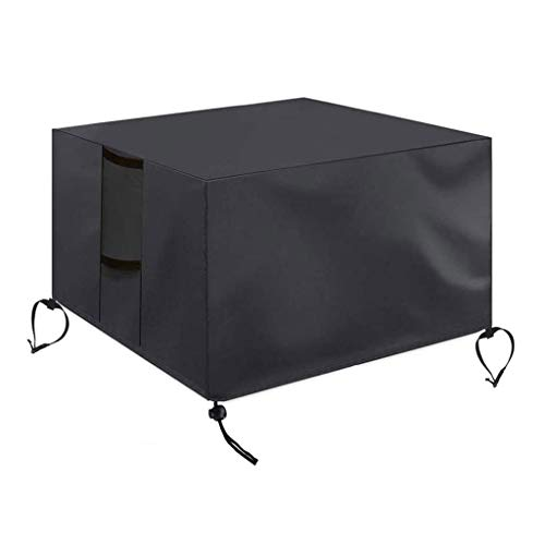 jieGorge Gas Fire Cover Square - 28x28x25 inch Waterproof Anti-UV Heavy Duty for Patio, Housekeeping & Organizers Sales (Black)