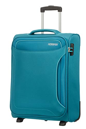 American Tourister Holiday Heat - Upright Equipaje de Mano, 55 cm, 42 l, Verde (Petrol Green)