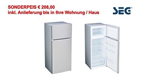 SEG Kühl-Gefrierkombination - Edelstahl Look - A++ - 143 cm Höhe - SONDERPREIS! inkl. Anlieferung bis in Ihre Wohnung/Haus
