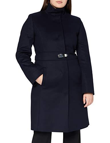 HUGO Damen Milora Wollmischungs-Mantel, Dark Blue405, 38