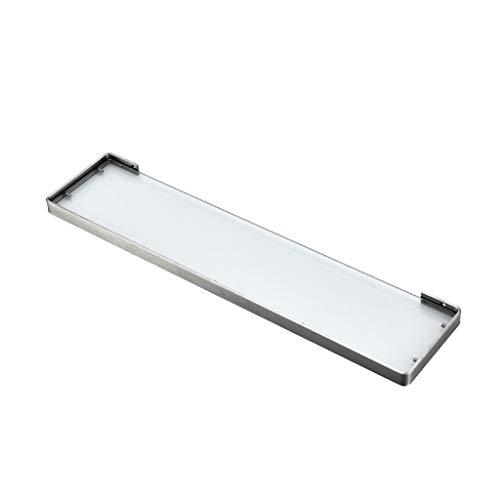 JIE KE Estante de exhibición de cristal para baño, estante organizador de pared de acero inoxidable, organizador de almacenamiento de almacenamiento de ducha (tamaño : 45 cm)