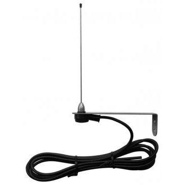 Antenna Accordata con staffa in acciaio 433,92 Mhz intgrabile nei ricevitori RX e nelle centrali START. Cavo RG 58 da 3,5 m