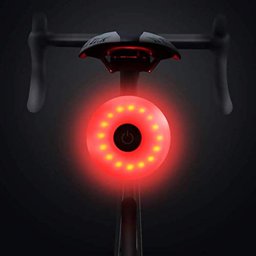 HMEDA Luce Posteriore per Bicicletta, USB Luce Fanale Posteriore Bici, IP65 Impermeabile, 5 modalità Luce Posteriore, per Qualsiasi Bici da Strada(1PCS)