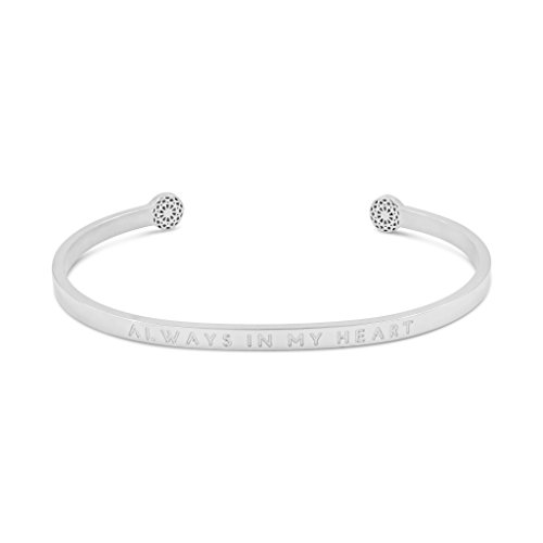 Simple Pledge - Always in My Heart - Blind - Armreif in Silber mit Gravur für Damen