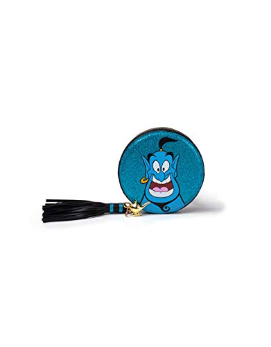 Disney Aladdin Coin Purse Genie Glitter Nue offiziell Blau