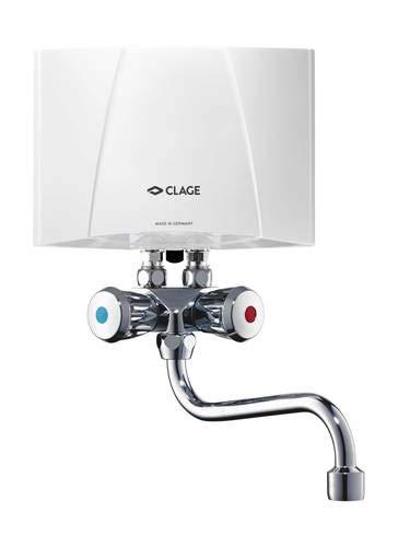 CLAGE M3/SMB Klein-Durchlauferhitzer 3,5 kW 230V Übertischanlage inkl. Armatur