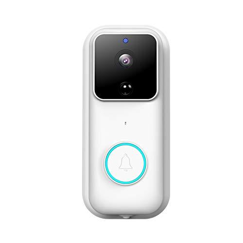 SOLE HOME Timbre de vídeo inteligente, cámara de timbre de seguridad inalámbrica WiFi 1080P, detector de movimiento PIR, gran angular de 170º, audio de 2 vías, alarma de aplicación, visión nocturna