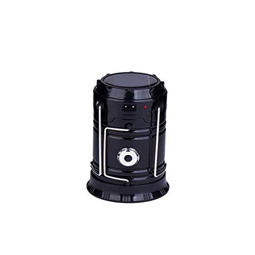 LHZTZKA Lanternes de Camping, Lampe Rechargeable Pliable d'USD LED avec la Tente de pêche de Banque de Puissance et l'urgence extérieure- Noir
