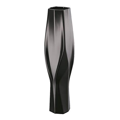 Rosenthal - Vase - Weave - Schwarz - Porzellan - Zaha Hadid Design - Größe: 45 cm