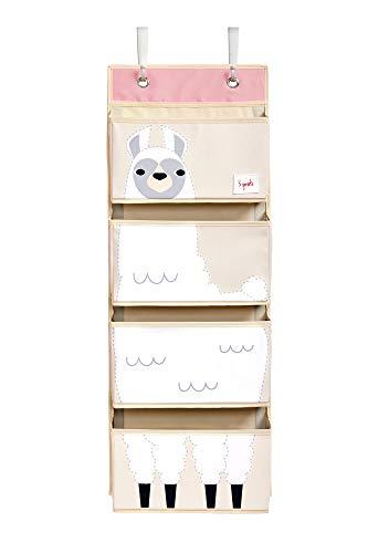 3 Sprouts Wandorganizer zum Aufhängen, Llama-Weiß