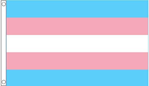 Transgenda Monica Helms Rainbow LGBT Drapeau 5 'X3' (150 cm x 90 cm)