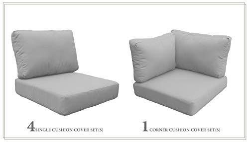 TK Classics Cushions-MIAMI-06d-GREY Cushions Patio Furniture, Grey