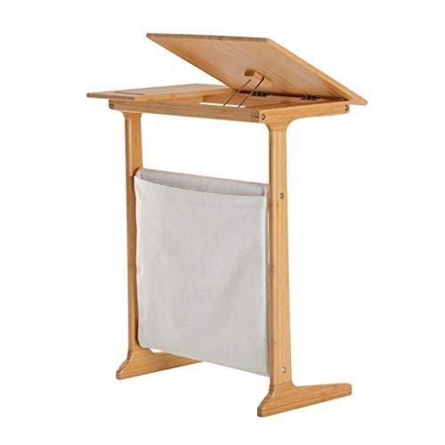 Mesas auxiliares C Table C Tabla para EL Sofa C Tabla Final Escritorio De Computadora Ángulo De Escritorio Ajustable C Tablas Laterales para Espacios Pequeños (Color : Beige, Size : 55 * 66.7 * 35cm)