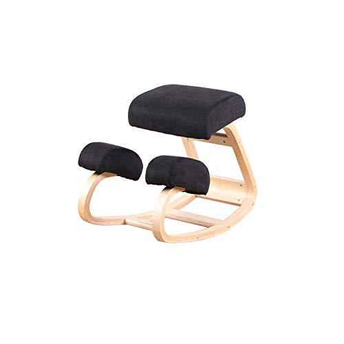 Ergonomischer Kniestuhl – Hocker für eine bessere Körperhaltung – großer Stuhl für Büro oder Zuhause – größerer Sitz, Knieschützer – robust und bequem