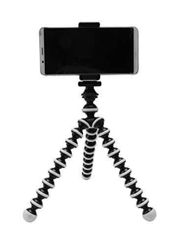 Photron 13 Inch Flexible GorillaPod Tripod Octopod with Mobile Holder Attachment & 360 Degree Ball Head for Smartphones, Compact Cameras, Action Cameras | Load Capacity: 1.5kg [NOT for DSLR]