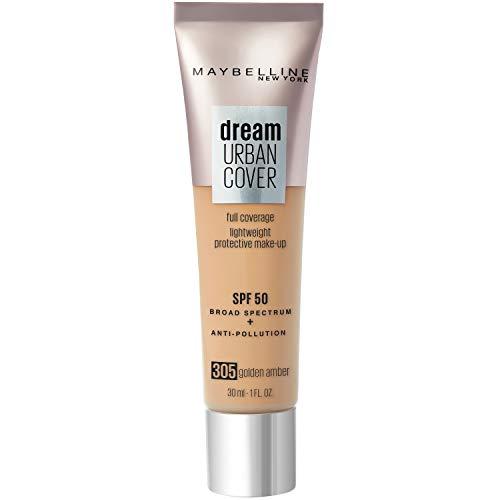 Maybelline New York - Perfecteur de Teint - Protection Anti-UV & Anti-Pollution - Dream Urban Cover - Teinte : Ambre Doré (305) - 30 ml