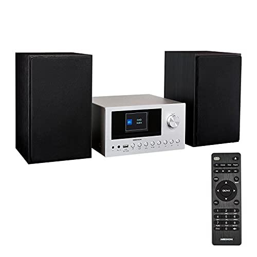 MEDION P85003 Micro Audio System Kompaktanlage (Internetradio, DAB+, PLL UKW Radio, Bluetooth, USB Anschluss, AUX, 2x150 W)