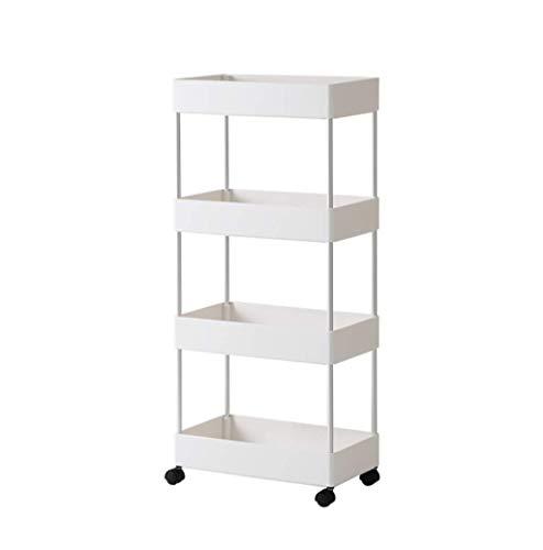 Carro de almacenamiento con 4 niveles deslizables para cocina, organizador de almacenamiento de pared, mueble de torre de baño, estante con ruedas