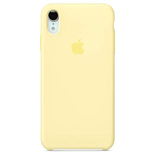 iPhone XR Silicone Case, 6.1 inch Soft Liquid Silicone Case with Soft Microfiber Cloth Lining Cushion (Mellow Yellow)