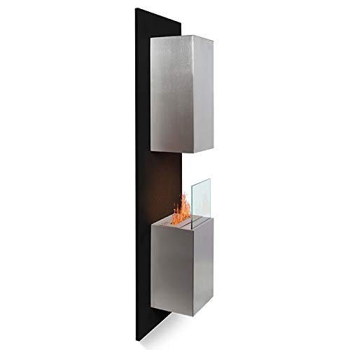 Wikao Kaptur XL – Negro, chimeneas y estufas etanol de pared (estufa biológica, pared)