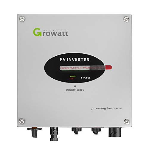 Power Inverter Inselwechselrichter Solar-Wechselrichter, Growatt 1.0KW 1000-S Mini-Solar-Wechselrichter mit WIFI-Modul Einstellungsdesign
