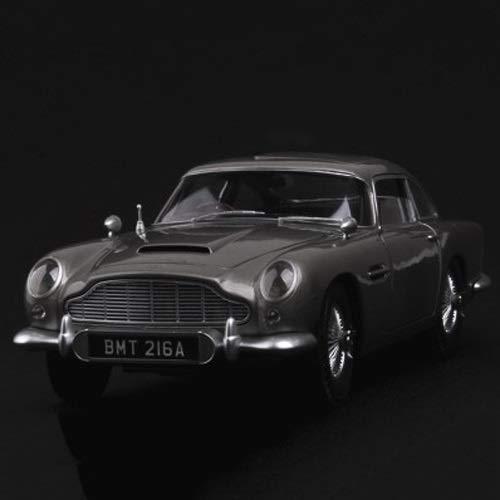 Knmbmg Modellauto 1:18 Aston Martin DB5 Imitation Legierung Automodell Simulation Sportwagen Metall Sammlung zu senden Jungen montiert Spielzeug Geschenke Sammlung Dekoration