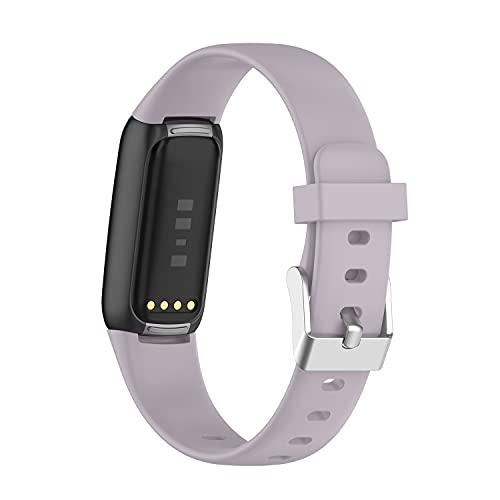 AISPORTS 5 unidades de correa de silicona compatible con Fitbit Luxe correa para mujeres y hombres, suave y cómodo, transpirable, correa de repuesto para Fitbit Luxe Activity Tracker