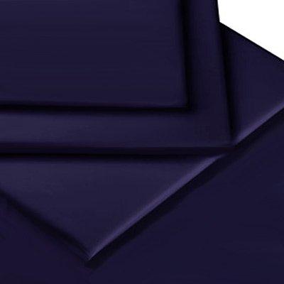 Linens Limited Drap-Housse 1 Personne en Percale de Polycoton 180 Fils, Bleu Marine, pour 76cm x 190cm
