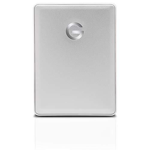 G-Technology 4TB G-DRIVE Mobile USB-C (USB 3.1 Gen 1) Portable External Hard Drive, Silver - 0G10348