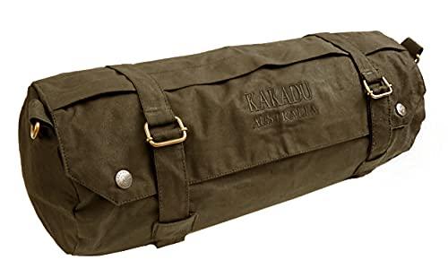 Kakadu Traders kleine Gepäckrolle fürs Motorrad, Fahrrad oder Pferd Braun One Size