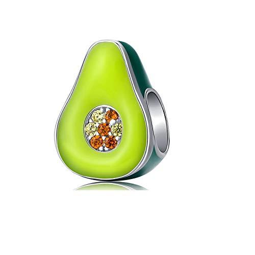DIY Auténtica Plata De Ley 925 Amor Corazón Fruta Animal Beads Fit Original Pandora Pulsera DIY Fabricación De Joyas para Mujeres Regalo