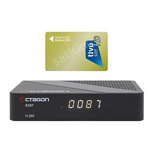 Octagon SX87 Full HD H.265 Linux LAN HDMI DVB-S2 Sat Tuner IP Receiver mit TiVuSat Karte aktiv