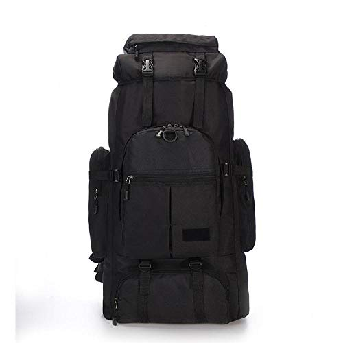 Camouflage Backpack 75L Large Capacity Military Rucksacks for Men Oxford Climbing Bags Fishing Hunting Outdoor Backpack Trekking-Black