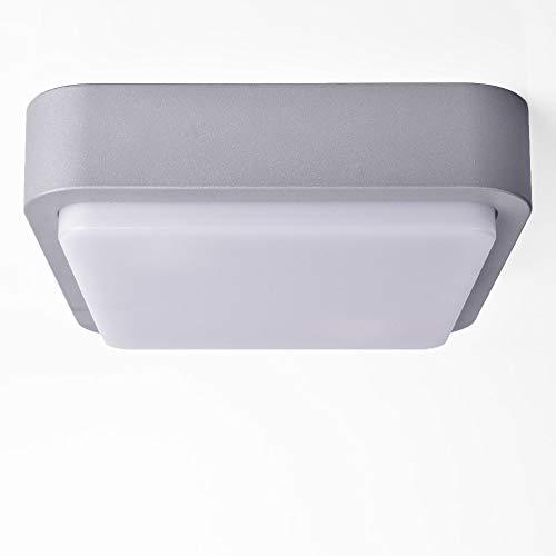 Aussenleuchte GRAU Wandleuchte Deckenleuchte Wandlampe Aussenwandleuchte Deckenleuchte 2x E27 Fassung Eckig Decken-Lampen 1419